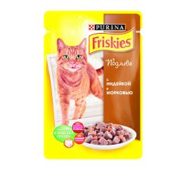 FRISKIES Cat КвП Индейка&Морковь 100г