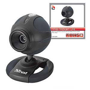 Веб/к Trust WB-3320X HiRes Webcam Live black (20/360)