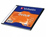 Verbatim DVD-R 4.7Gb, 16x Slim (5) Color